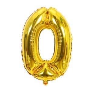 Ballon chiffre 0 an