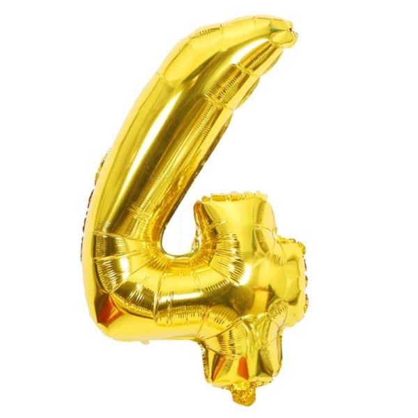ballon chiffre 4 ans