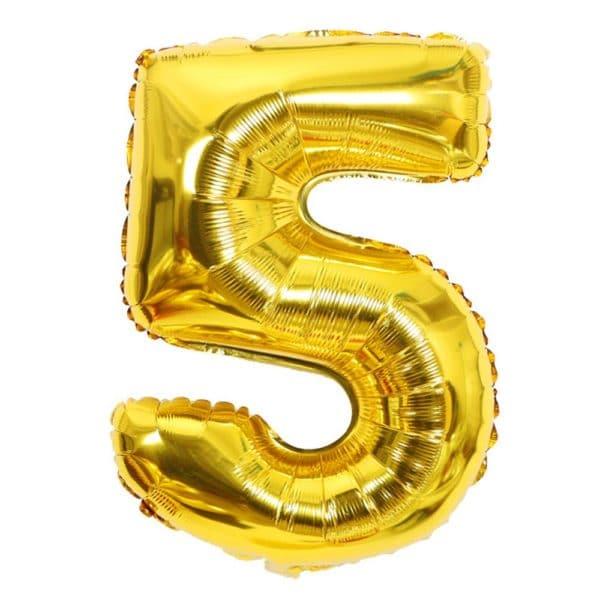 ballon chiffre 5 ans