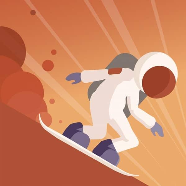 Avis Jeux iPhone Mars Surfing