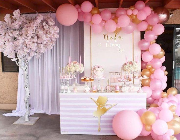 Sur Pinterest Décoration ballon anniversaire fille pour organiser une fête géniale