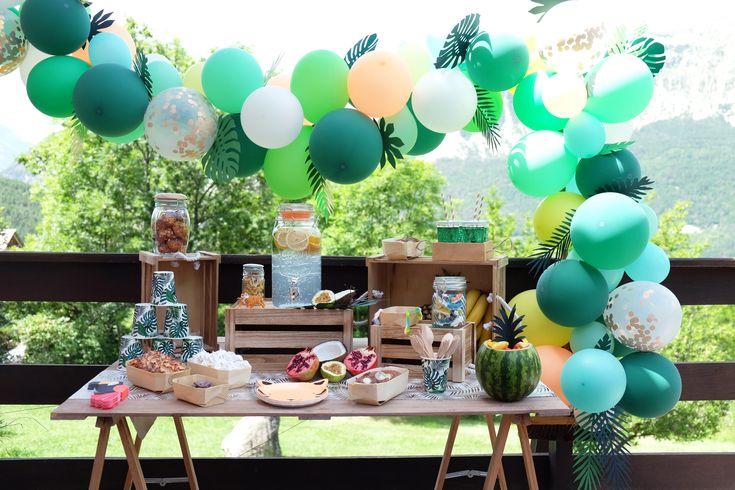 Sur Pinterest Décoration anniversaire jungle arche ballons – jungle birthday party