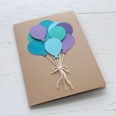 Sur Pinterest Balloon Bunch Birthday Card