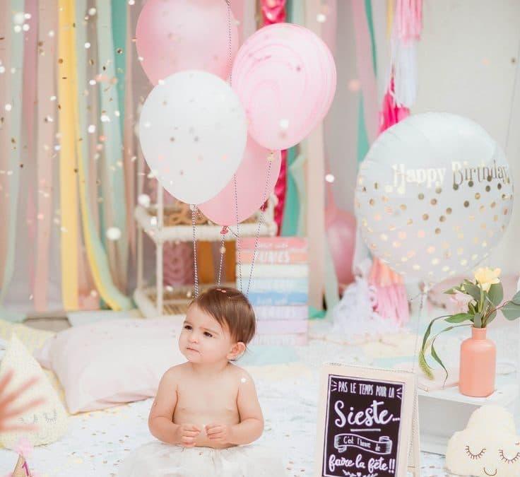 Sur Pinterest anniversaire rose 1 an petite fille – ballons – pink birthday first