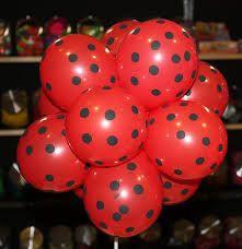 Sur Pinterest Red black polka balloons ladybug theme balloons