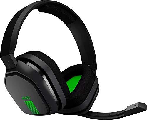 Casque ASTRO Gaming A10 pour Xbox One / Switch Nintendo / PS4 / PC et Mac - Filaire 3.5mm et Boom Mic de Logitech - Emballage en vrac - Vert / Noir