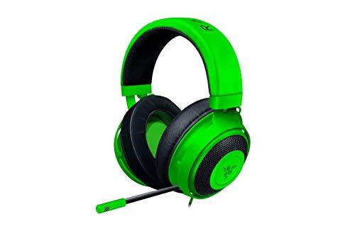 Razer Kraken Gaming Headset 2019: Cadre en aluminium léger - Micro annuleur de bruit rétractable - pour PC, Xbox, PS4, Nintendo Switch - Vert