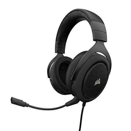 Corsair HS60 - Casque de jeu pour son surround 7.1 avec PC, w / DAC USB - Écouteurs certifiés Discord - Compatible avec les commutateurs Xbox One, PS4 et Nintendo - Carbon