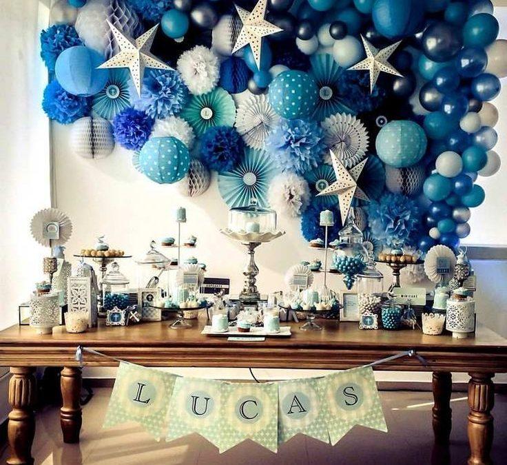Sur Pinterest Décoration de baptême pour garçon – 60 idées prônant la couleur bleue