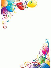 Sur Pinterest Papier à lettre décoré de jolis ballons d'anniversaire, à imprimer