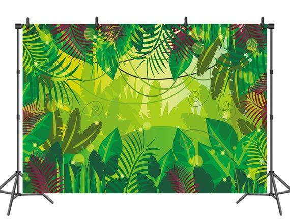 Sur Pinterest Jungle Birthday Backdrop Safari Tropical Natural Rainforest Baby