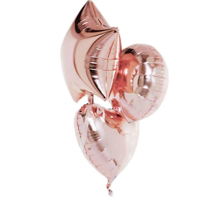 Sur Pinterest Ballon coeur rose gold – 46 cm