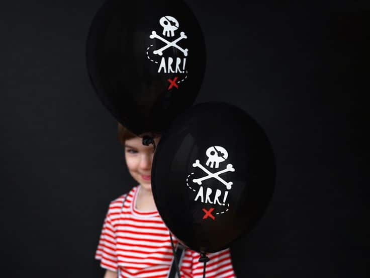 Sur Pinterest 6 ballons pirate