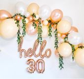 Sur Pinterest Balloon Garland, Rose Gold Balloon Garland, Rose Gold Balloon Arch,