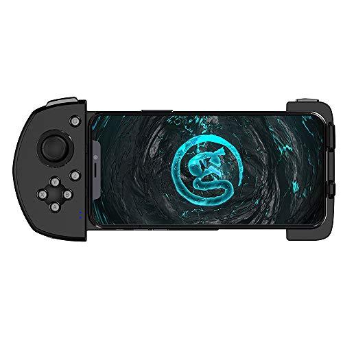 Manette de jeu mobile GameSir G6, manette de jeu sans fil à une main, manette de jeu Bluetooth avec manette de jeu pour iPhone COD / PUBG / règles de survie