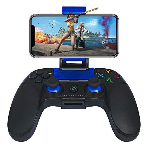 Contrôleur de jeu mobile STOGA compatible pour iPhone iOS et Android, télécommande sans fil avec retour de vibrations, support de téléphone portable