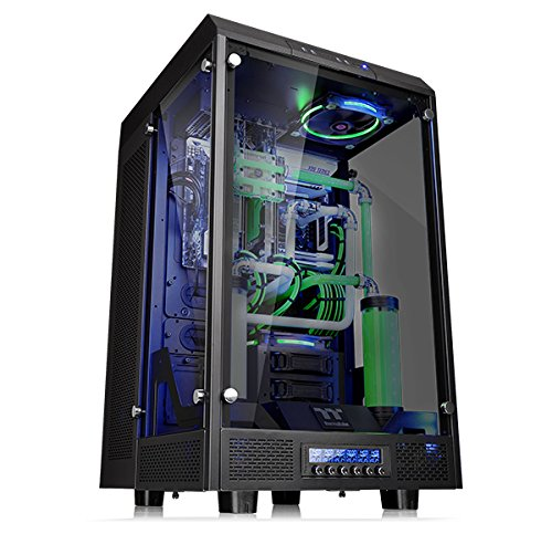 "Châssis d'ordinateur Super Tour Vertical entièrement modulaire en verre trempé Thermaltake Tower 900 Edition Black CA-1H1-00F1WN-00 ""width ="" 375 ""height ="" 362"