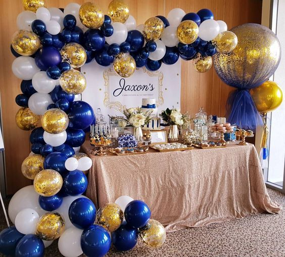 Sur Pinterest Navy, white and gold for jaxsons christening day. Gorgoues dessert