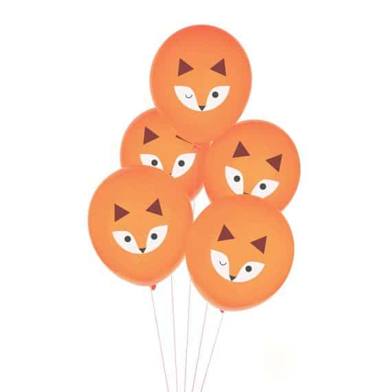 Sur Pinterest Fox Balloons – Woodland Baby Shower Decorations, Fox Birthday, Fox