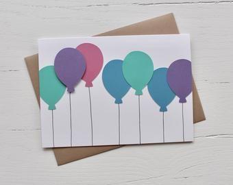 Sur Pinterest Balloon Bunch Birthday Card